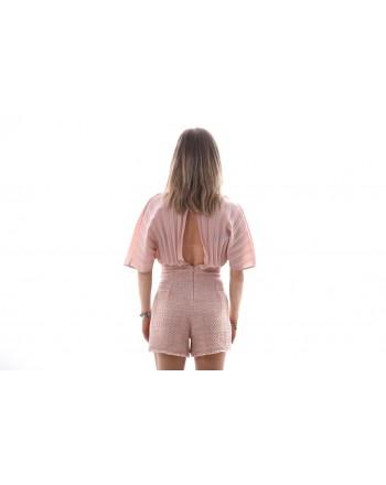 PINKO - Tuta in Boucle SBALLARE - Nudo/Rosa