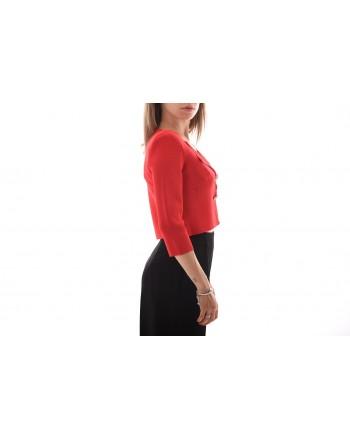 PINKO - PRESTUCCIO Jewel Buttons Cardigan Knit -Red