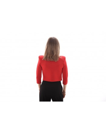 PINKO - Cardigan Corto con Bottoni Gioiello PRESTUCCIO - Rosso