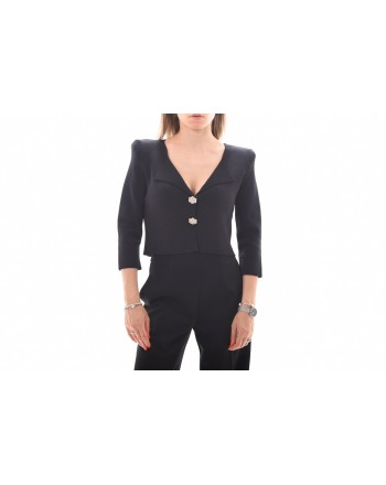 PINKO - PRESTUCCIO Jewel Buttons Cardigan Knit - Black