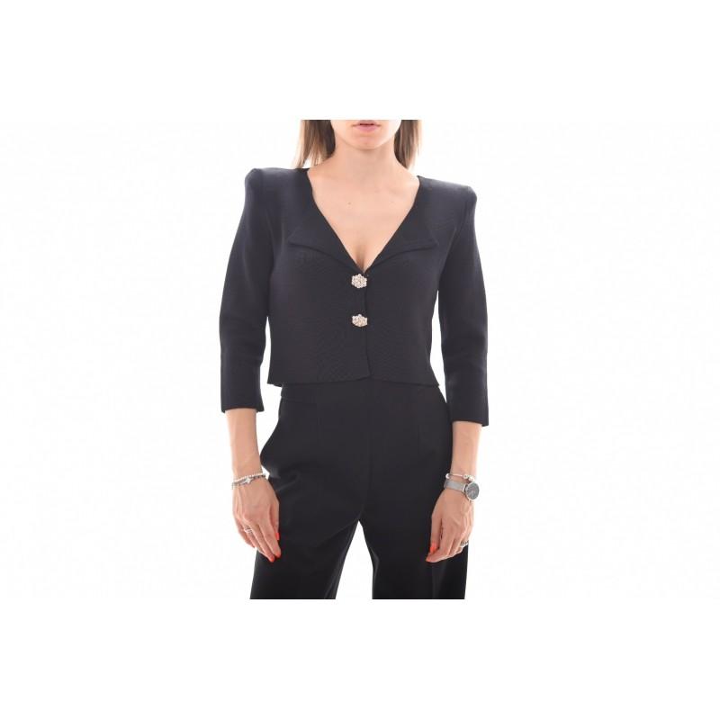 PINKO - PRESTUCCIO Jewel Buttons Cardigan Knit - Black