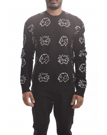 MCQ BY ALEXANDER MCQUEEN - PIXEL Monster cotton shirt - Darkest Black