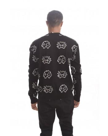 MCQ BY ALEXANDER MCQUEEN - PIXEL Monster cotton shirt - Darkest Black