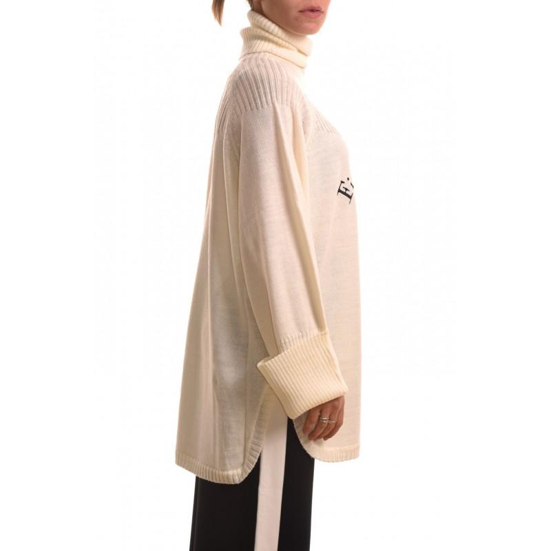 5 PREVIEW - Maglia in lana con stampa - Latte