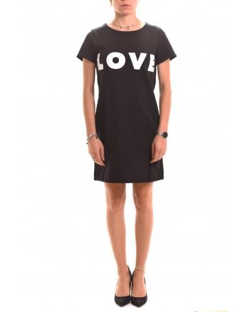 LOVE MOSCHINO - Abito in felpa con Logo LOVE - Nero