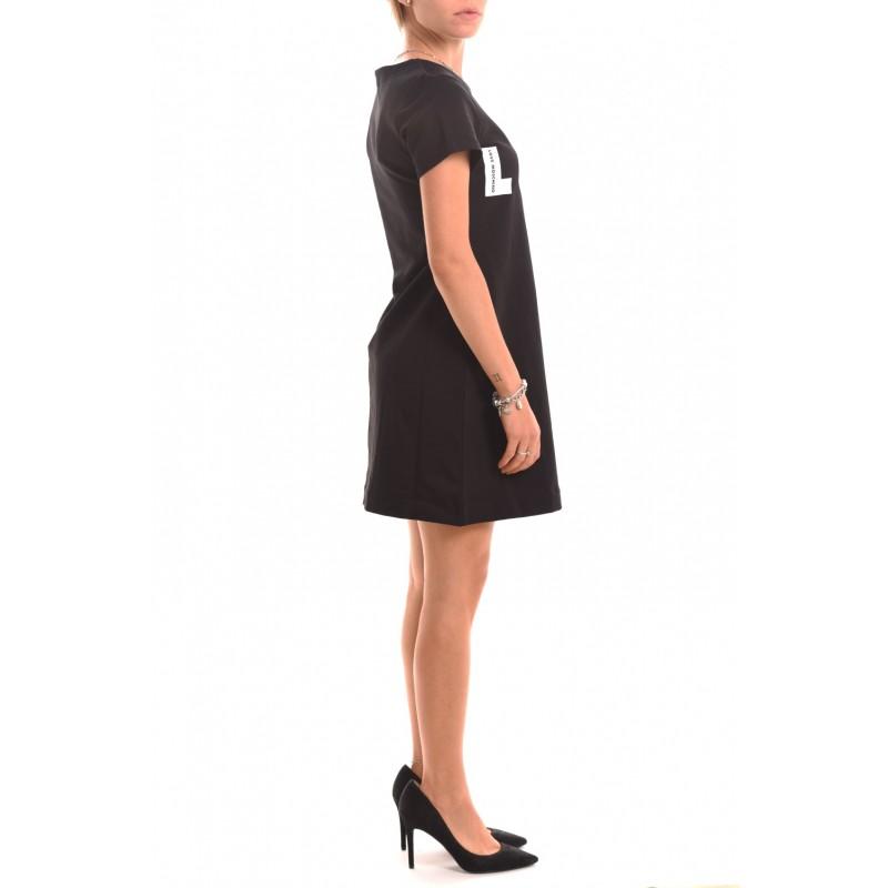 LOVE MOSCHINO - Fleece dress with Logo LOVE - Black