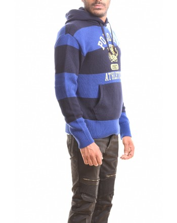 POLO RALPH LAUREN - ATHLETICS ROYAL sweater with hood - Navy