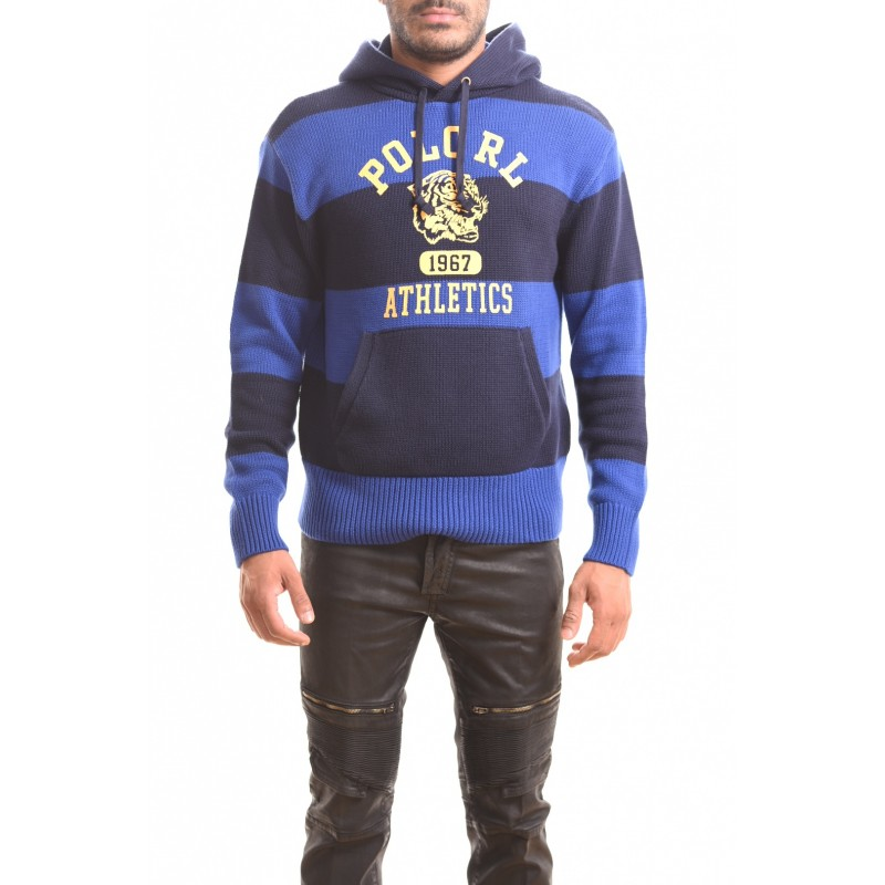 POLO RALPH LAUREN - Maglia ATHLETICS ROYAL con cappuccio - Navy/Royal