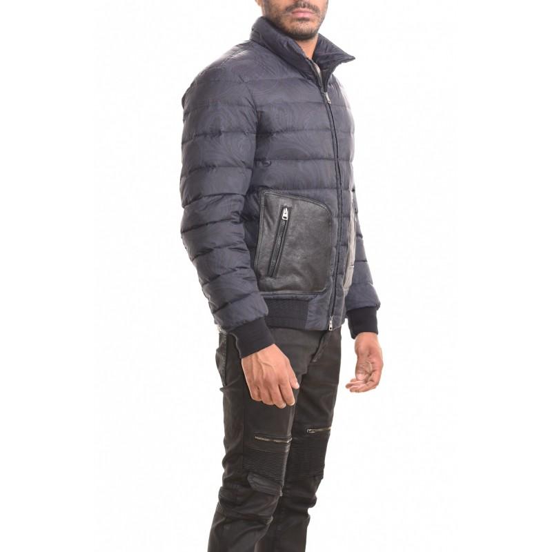 ETRO - Jacket with leather details - Dark blue