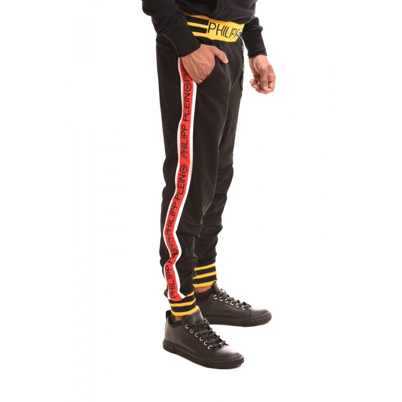 PHILIPP PLEIN - Jogging Trousers with Logo Band - Black