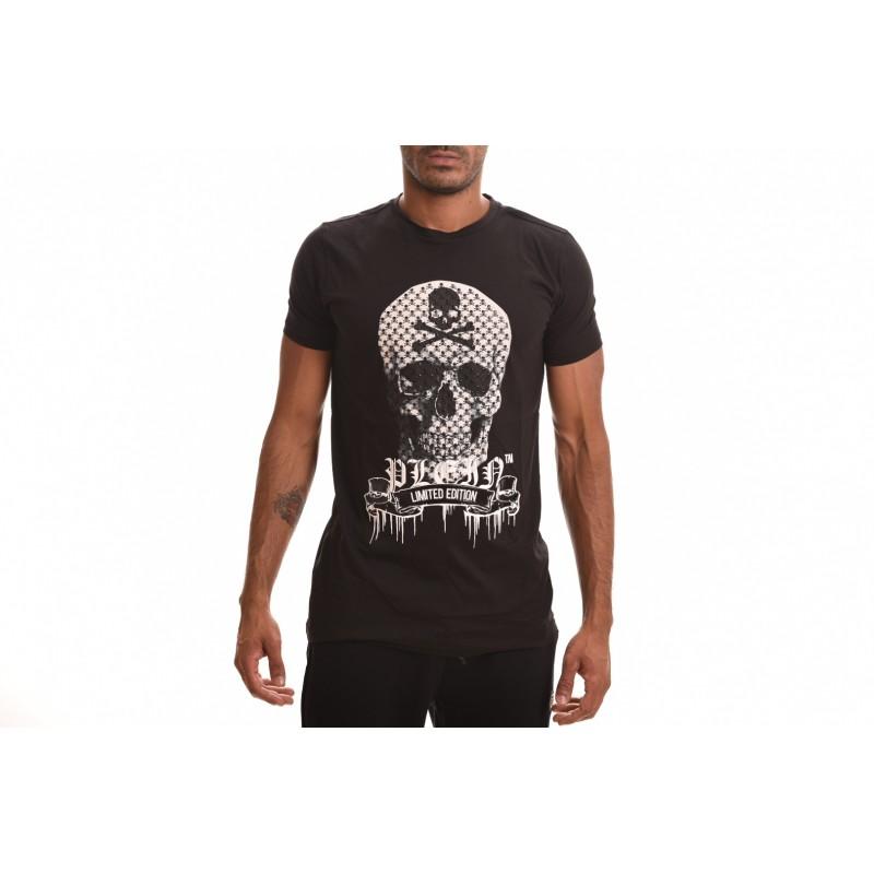 PHILIPP PLEIN - Cotton T-Shirt SKULL - Black