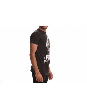 PHILIPP PLEIN - Cotton T-Shirt SKULL - Black