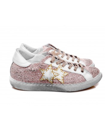 2 STAR - Glitter Sneakers - Pink/White