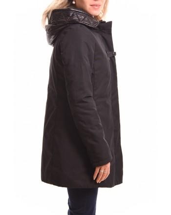 FAY - Tech Fabric Hood Coat - Black