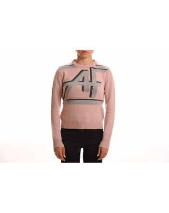 ALBERTA FERRETTI - Cashmere sweater with Logo - Pink