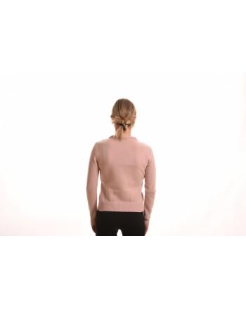 ALBERTA FERRETTI - Maglia in Cashmere con Logo - Rosa