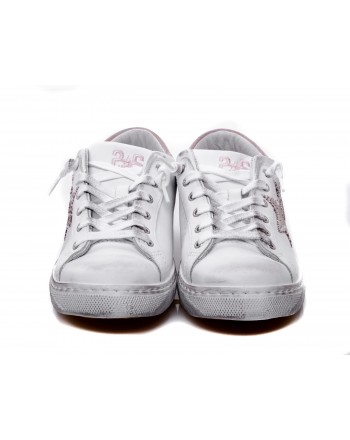 2 STAR - Sneakers in pelle - Bianco/Rosa