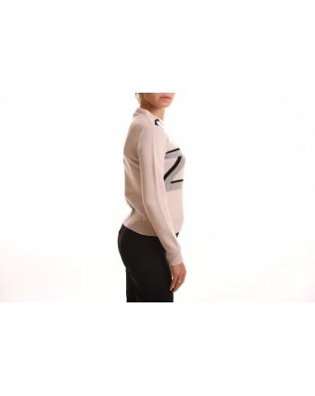 ALBERTA FERRETTI - Maglia in Cashmere con Logo - Avorio