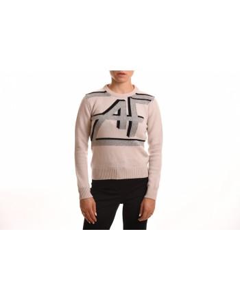 ALBERTA FERRETTI - Cashmere sweater with Logo - Ivory