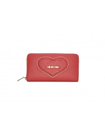 LOVE MOSCHINO - Zip Around Heart Wallet - Red