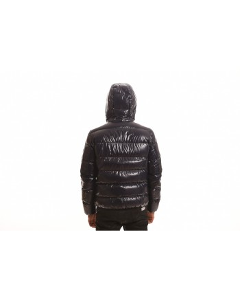 FAY - Quilted down jacket with hood - Blue
