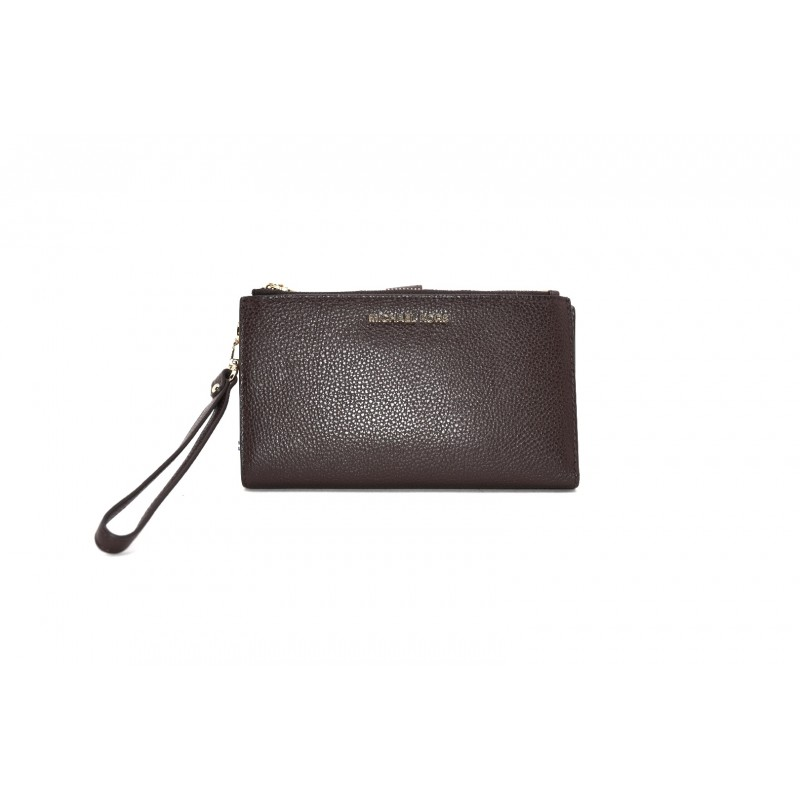 MICHAEL by MICHAEL KORS - Leather Wristlet Bag - Wine