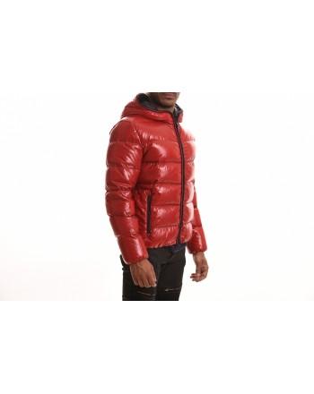 FAY - Piumino trapuntato con cappuccio - Rosso