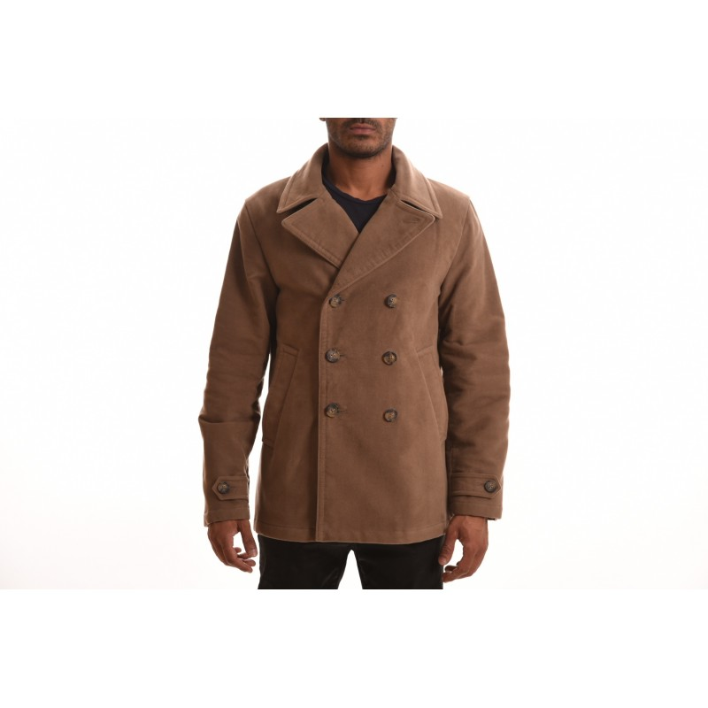 FAY - PEACOT double-breasted coat - Brown