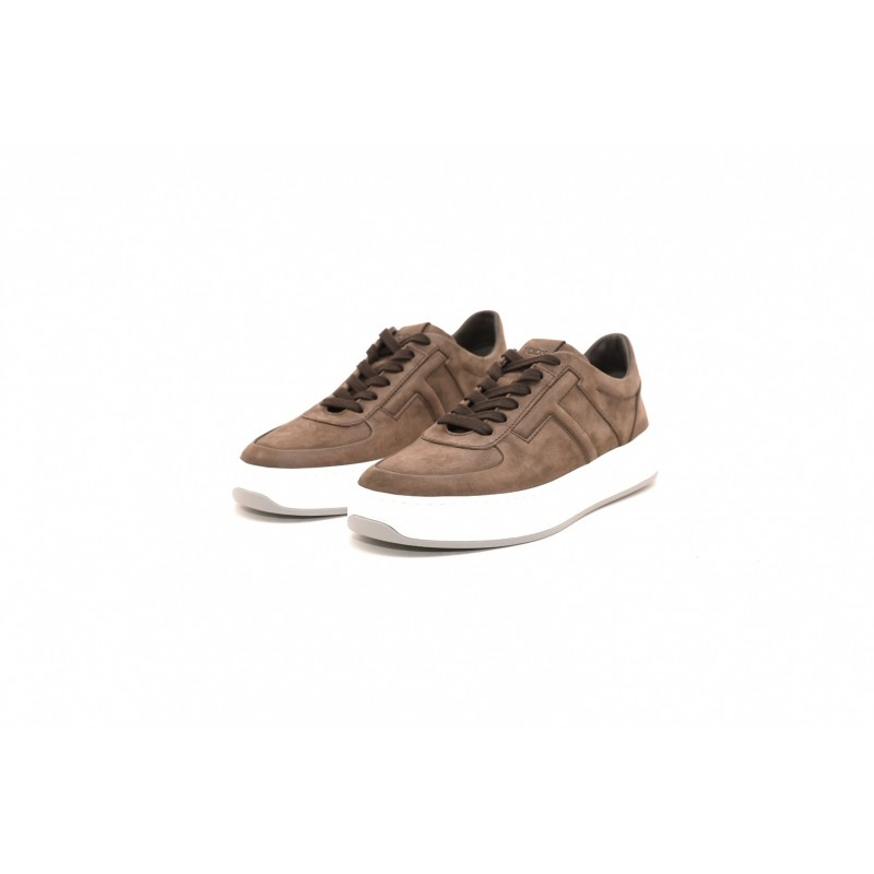 TOD'S - Leather sneakers - Brown