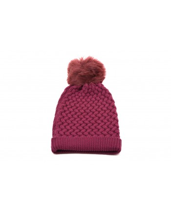 GALLO - Cappello in lana con Pom-Pom - Mora