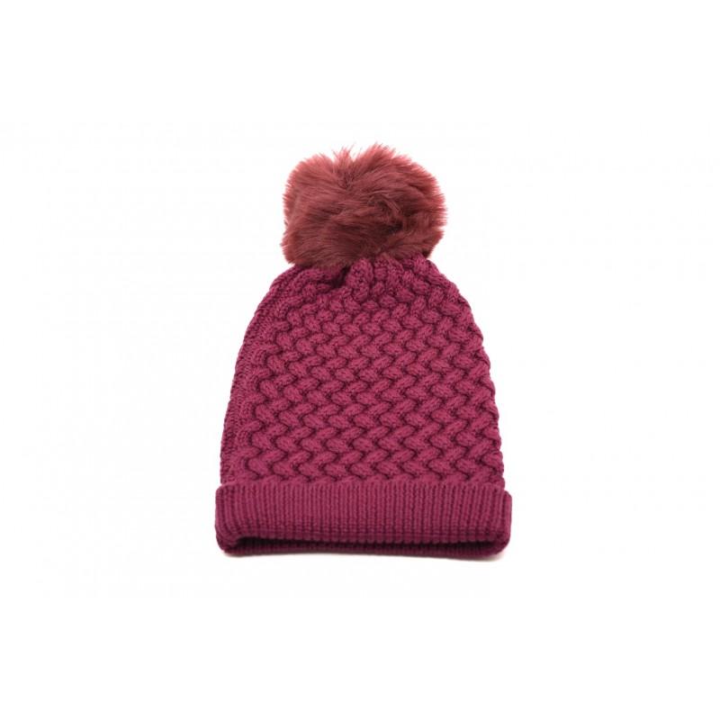 GALLO - Cappello in lana con Pom-Pom - Mora