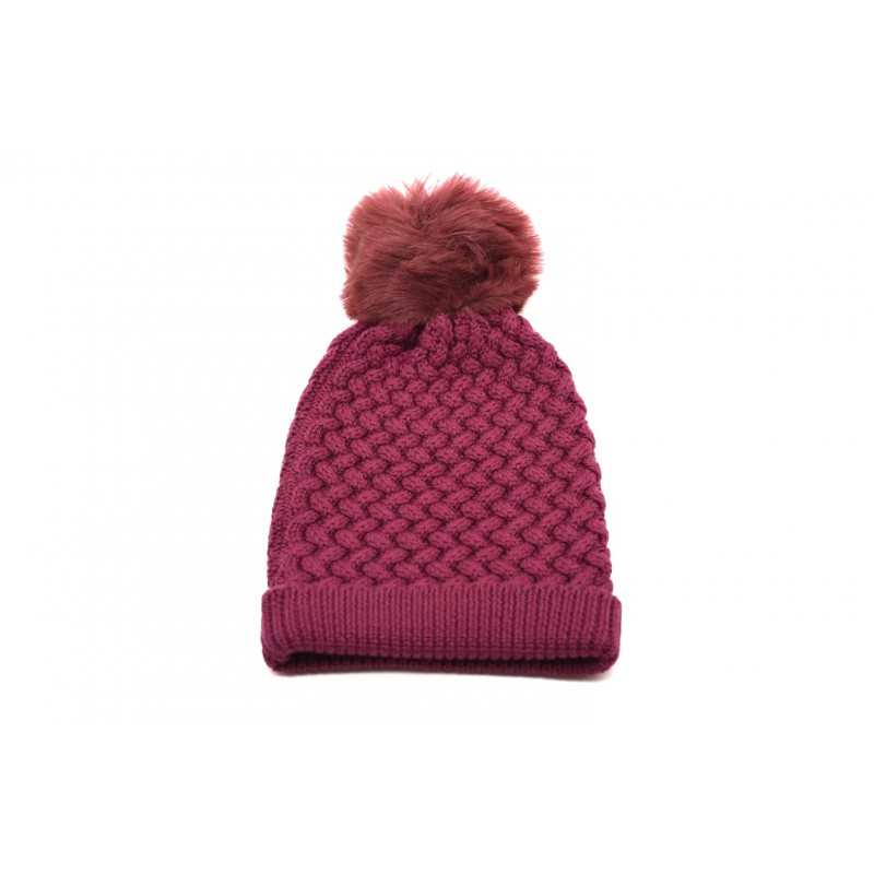 GALLO - Wool hat with Pom-Pom - Blue raspberry