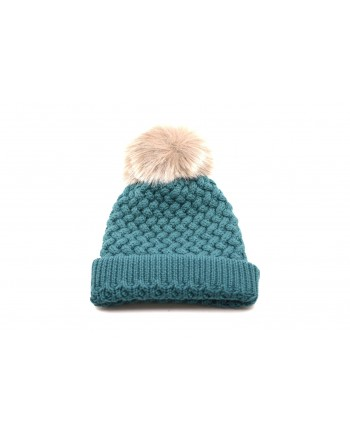 GALLO - Wool hat with Pom-Pom - Green copper