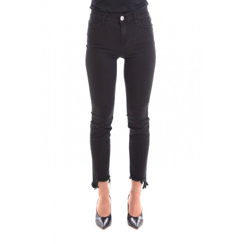 PINKO - SABRINA 5 Pockets Cropped Trousers - Black