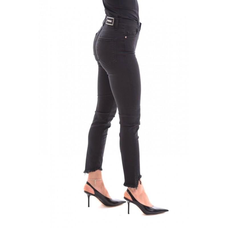 PINKO - Pantalone 5 Tasche Cropped SABRINA - Nero
