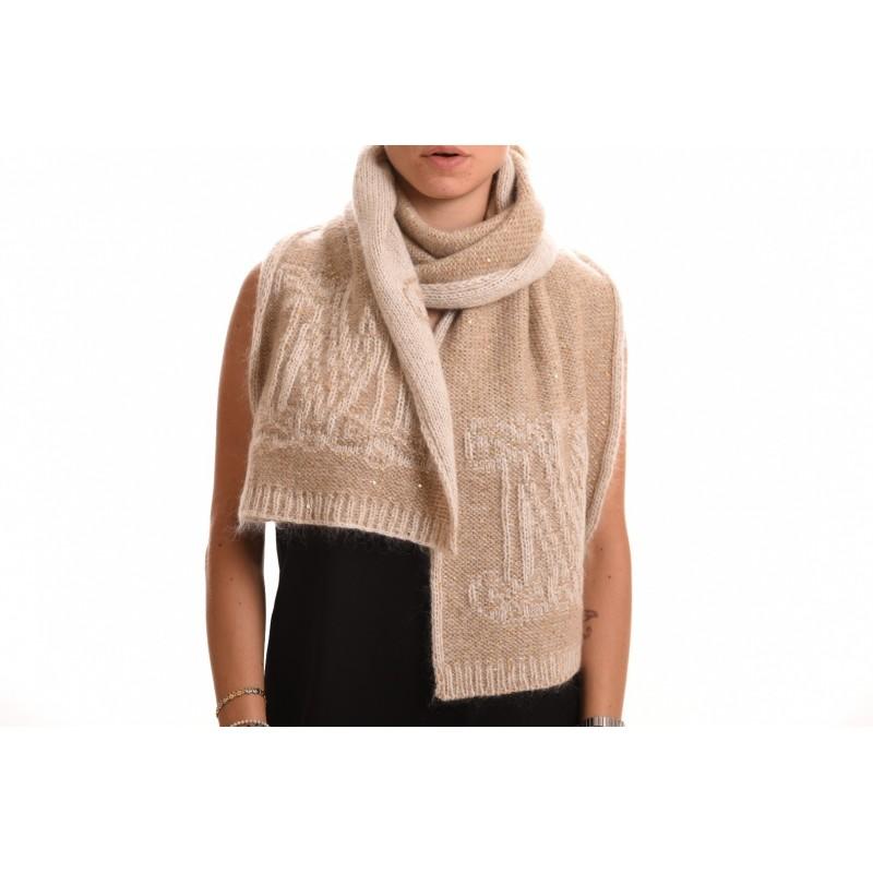 MAX MARA - Wool Scarf EBORI - Camel
