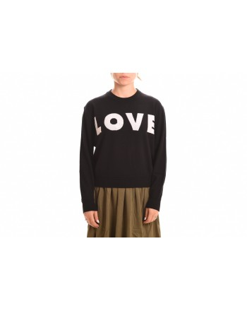 LOVE MOSCHINO -Roundneck LOVE Knit - Black