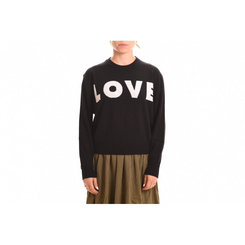 Women Jumpers & Cardigans Love Moschino Sweatshirt nero