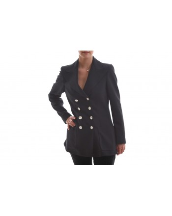 PHILOSOPHY di LORENZO SERAFINI - Doublebreasted Jacket with Rhinestones-  Black