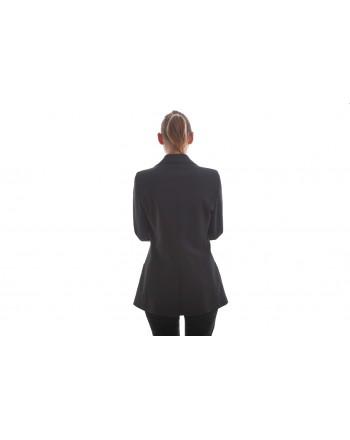 PHILOSOPHY di LORENZO SERAFINI - Doublebreasted Jacket with Rhinestones-  Black