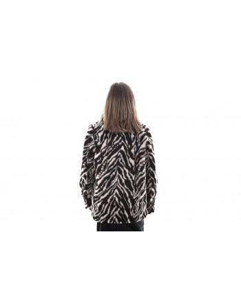 PINKO - Ecofur Jacket LAMENTARE - White/Black/Brown