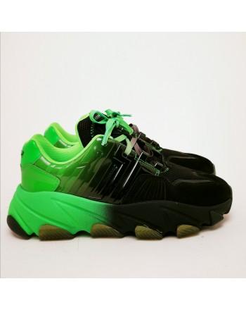 ASH - Sneakers EXTASY -Nero/Verde