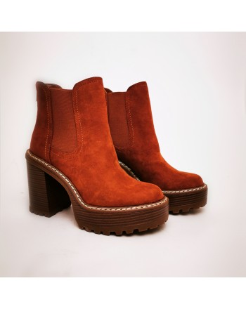 MADDEN GIRL - Tronchetto Slip On  KAMORA - Dark Whiskey