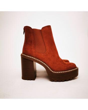 MADDEN GIRL - KAMORA Slip- On Ankle Boot - Dark Whiskey