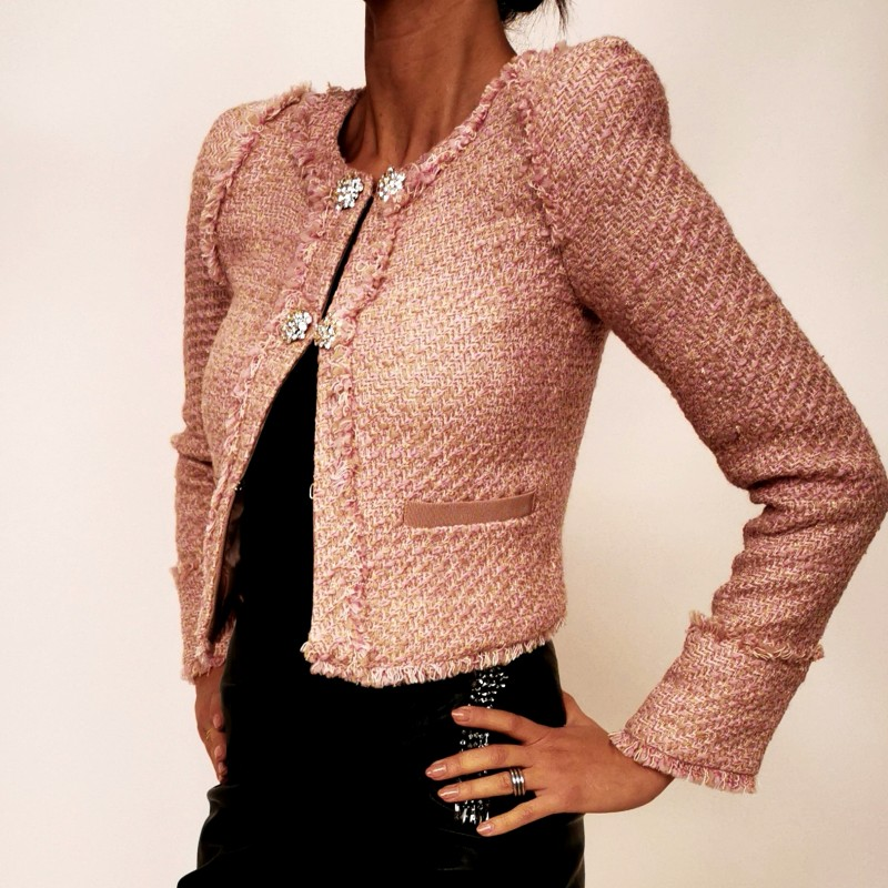 PINKO - SCUCIRE jacket with jewel buttons - Pink