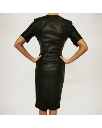 PINKO - PUNIRE ecoleather dress - Black