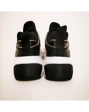 MICHAEL BY MICHAEL KORS - Sneakers KEELEY TRAINER in pelle - Nero/Pale Gold