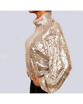 PINKO - DERBY 2 ANORAK jacket with zip - Platinum