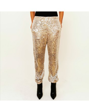 PINKO - Full paillettes trouser - Platinum