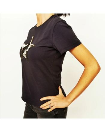 PINKO - T-Shirt RADIARE in cotone - Nero